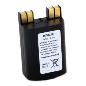 Bloc lithium 2 x (3 V - 2,4 Ah) pour claviers Daitem SH630AX, SH640AX et BH640AX (RXU02X)