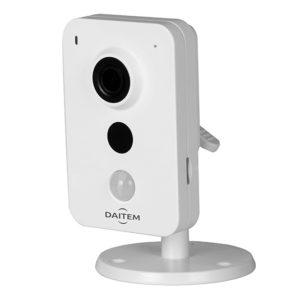 Caméra intérieure Wi-Fi 2 Mp IR 10m, slot pour micro SD, alimentation 12 V DC Daitem SV120CX