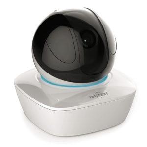 Caméra intérieure Wi-Fi 2 Mp rotative & motorisée, IR 10m, slot pour micro SD, alimentation 5 V Daitem SV121CX