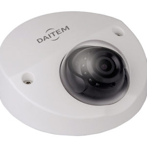 Caméra mini-dôme à focale fixe compact 4 Mp, IR 20m, IP67, POE Daitem SV123DX