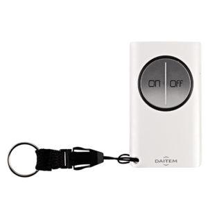 Télécommande 2 fonctions à retour d'information pour alarme Daitem SH602AX