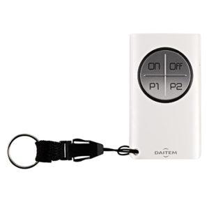 Télécommande 4 fonctions à retour d'information, pour alarme et automatisme Daitem SJ604AX