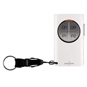 Télécommande 8 fonctions à retour d'information pour alarme et automatisme Daitem SJ608AX